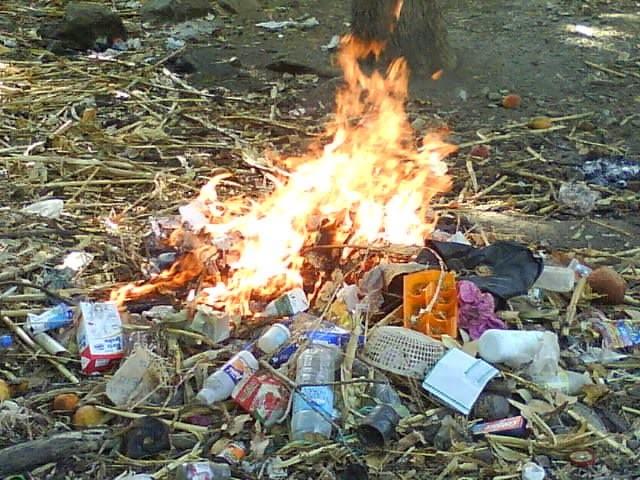 basura quemada